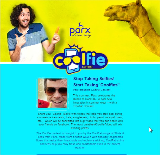 Parx Coolfie - Webcam Doodle contest